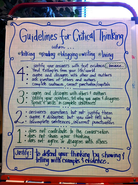 Critical thinking - guidelines